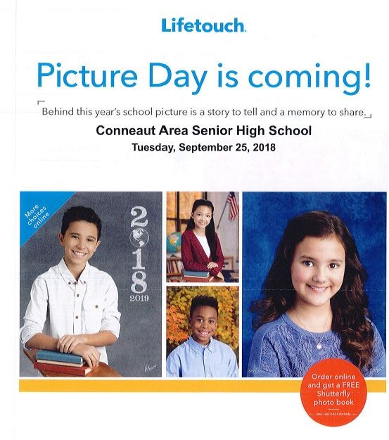 Picture day order form - Conneaut Area Senior High